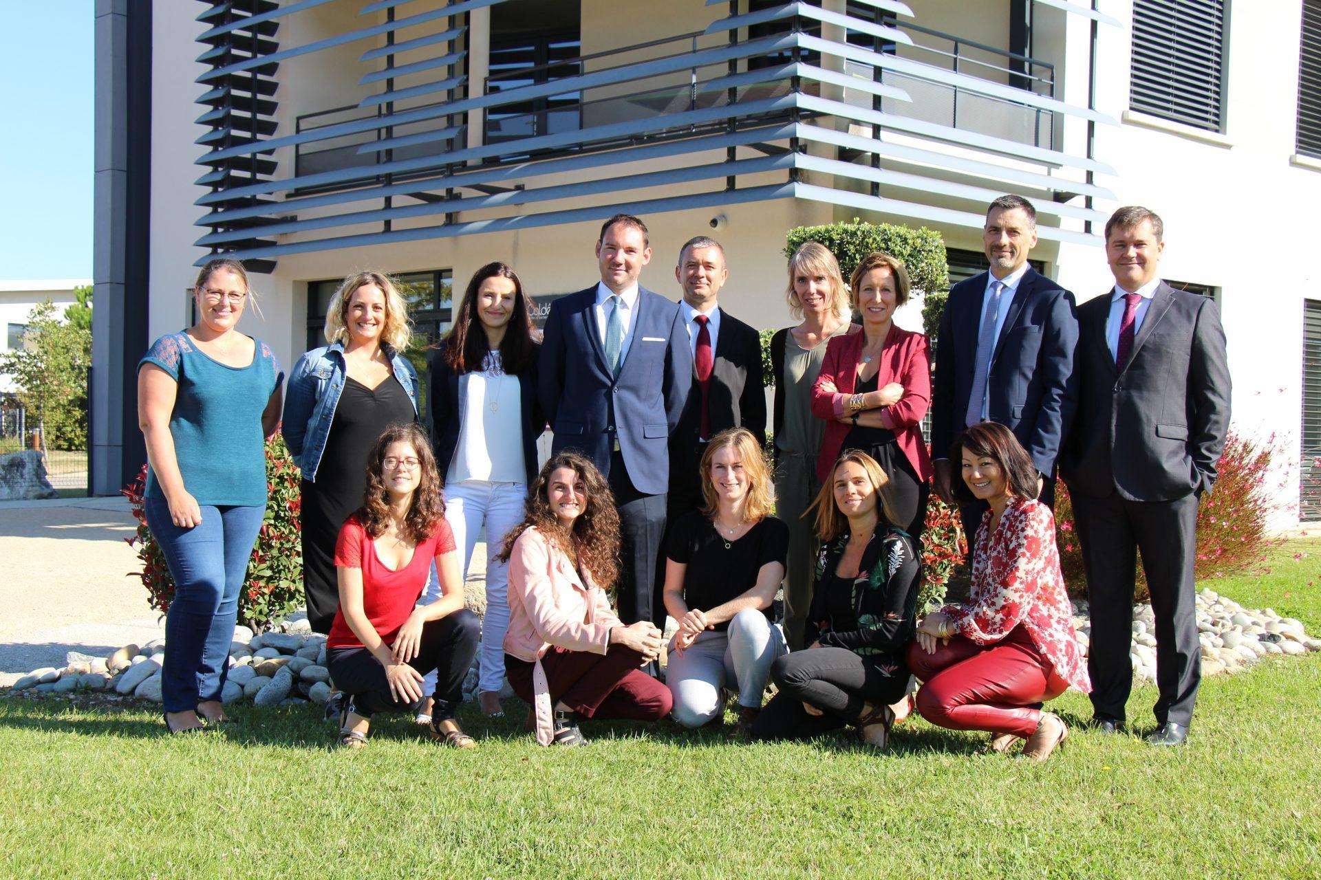 l'équipe du cabinet d'avocats Cadra à Valence